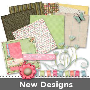 New Digital Scrapbooking Backgrounds and Elements